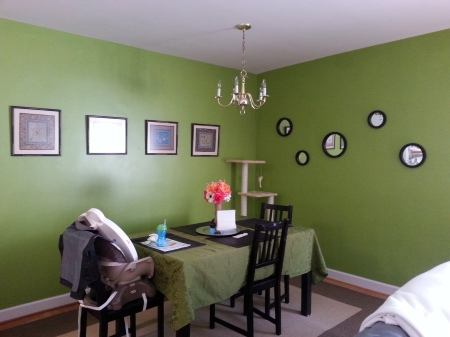 The Living Room-Happy Green Room!