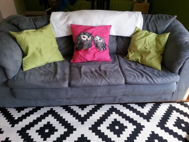 I love my pillows....and carpet....and couch :3