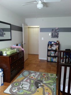My mom helped me paint the majority of my house-THANKS MOM :3 Also, a Children's Activity Rug-Ikea $15