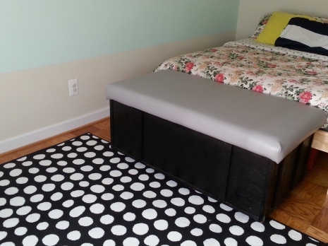 Black and white Polka Dot Rug- Ikea $15